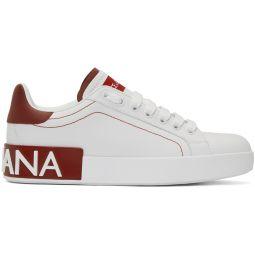 White & Red Portofino Sneakers