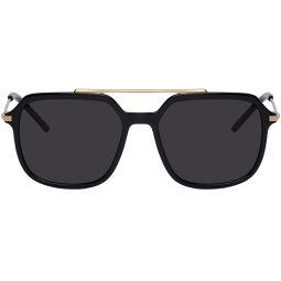 Black & Gold Slim Sunglasses