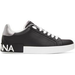 Black & White Low-Top Sneakers