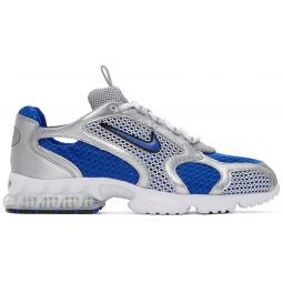 Silver & Blue Air Zoom Spiridon Cage 2 Sneakers