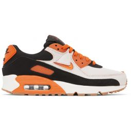 White & Orange Air Max 90 Premium Sneakers