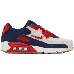 Navy & Red Air Max 90 Sneakers