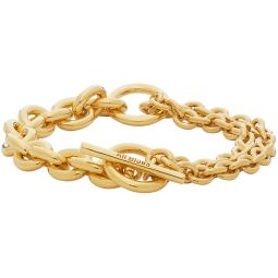 Gold Polished Double Bracelet