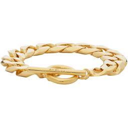 Gold Polished Moto Bracelet