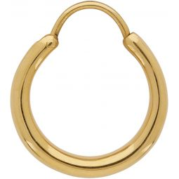Gold Polished Hungry Baby Snake Earring