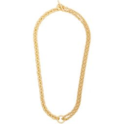 Gold Polished Double Necklace