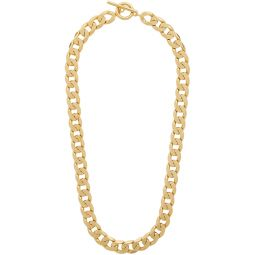 Gold Polished Moto Necklace