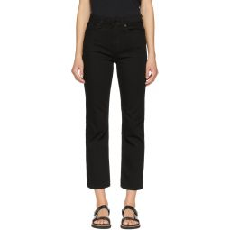 Black Nina Ankle Cigarette Jeans