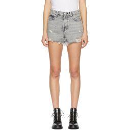 Grey Denim Maya High-Rise Shorts