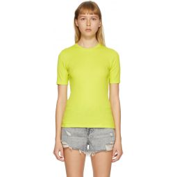 Green 'The Rib Slim' T-Shirt