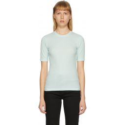 Blue 'The Rib Slim' T-Shirt