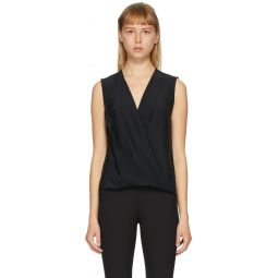 Black Silk Victor Sleeveless Tank Top