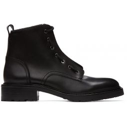 Black Cannon Combat Boots