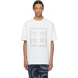 White Star Gaze Worn T-Shirt