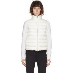 White Down Paneled Jacket