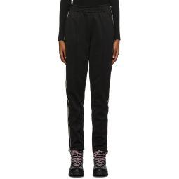 Black Contract Line Detail Lounge Pants