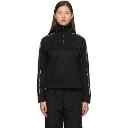 Black Half Zip-Up Sweatshirt