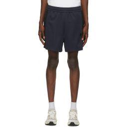 Navy & Black Side-Stripe Track Shorts