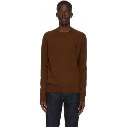 Brown Wool Crewneck Sweater