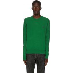 Green Wool Crewneck Sweater