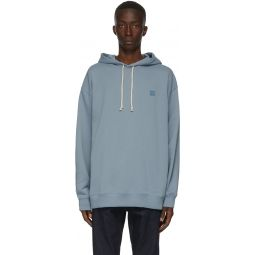 Blue Oversized Patch Hoodie