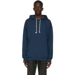 Navy Oversized Patch Hoodie