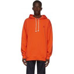 Orange Oversized Patch Hoodie