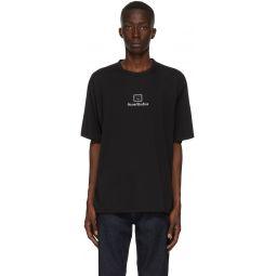 Black Reflective Patch Motif T-Shirt