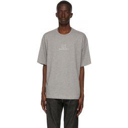 Grey Reflective Patch Motif T-Shirt