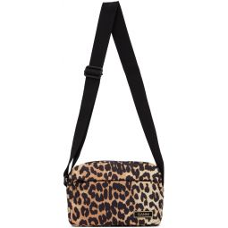Black & Brown Recycled Leopard Print Pouch