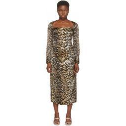 Black & Brown Silk Dress