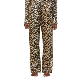 Black & Brown Silk Leopard Lounge Pants
