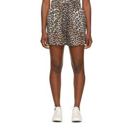 Black & Brown Silk Work Shorts