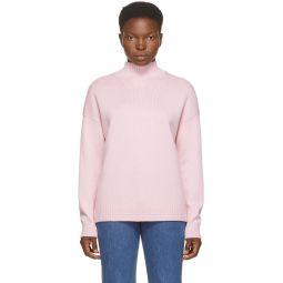 Pink Wool Pullover Turtleneck