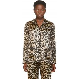 Black & Brown Silk Leopard Shirt