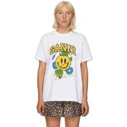 White Smiley Flower T-Shirt