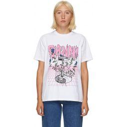 White UFO Flower T-Shirt