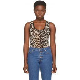 Black & Brown Sleeveless Bodysuit