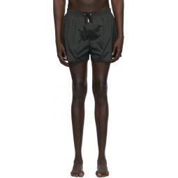 Black Back Logo Swim Shorts