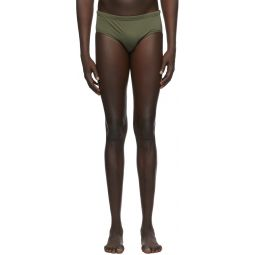 Green & Black Back Logo Swim Shorts