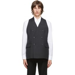 Grey Melange Wool Waistcoat