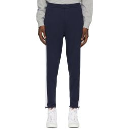 Navy Interlock Track Pant