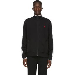 Black Interlock Zip-Up Jacket