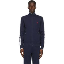 Navy Interlock Zip-Up Jacket