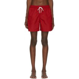 Red Traveler Swim Shorts