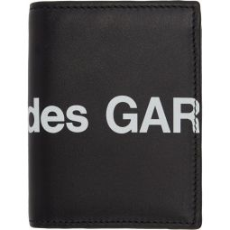 Black Huge Logo Card Holder