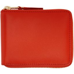 Orange Classic Zip Wallet