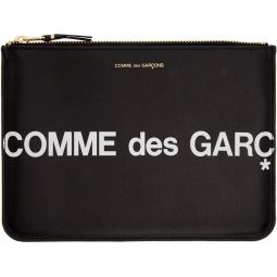 Black Large Huge Logo Pouch