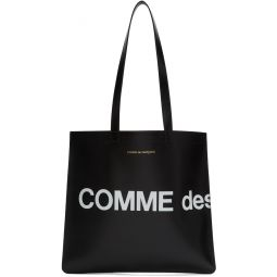 Black Huge Logo Tote