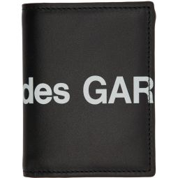 Black Huge Logo Bifold Card Holder